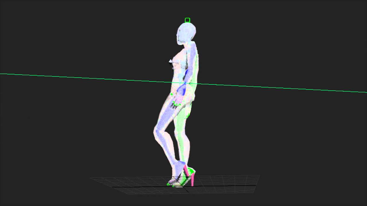 Woman walk animation - sexy biped))