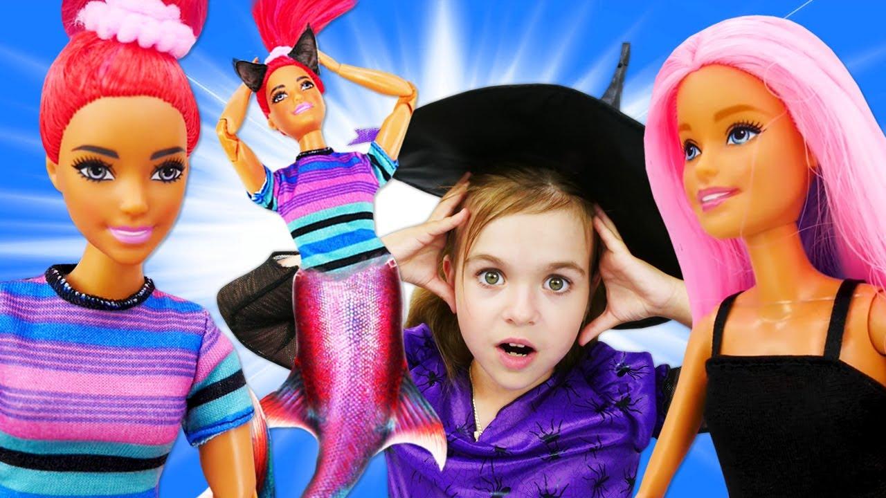 Мультик БАРБИ все серии подряд - Сборник кукла Барби и ведьмочка ЮЛЛИ