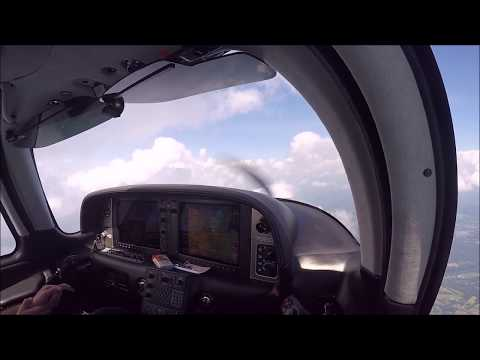 THUNDERSTORMS DEVIATIONS ILS APPROACH ATC CHAT IN THE CIRRUS SR22