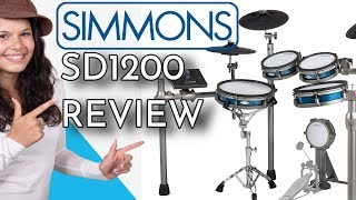 Simmons SD1200 Review Electronic Drum Kit - MESH HEADS - Sound Demos - Overview -Electronic Drumming
