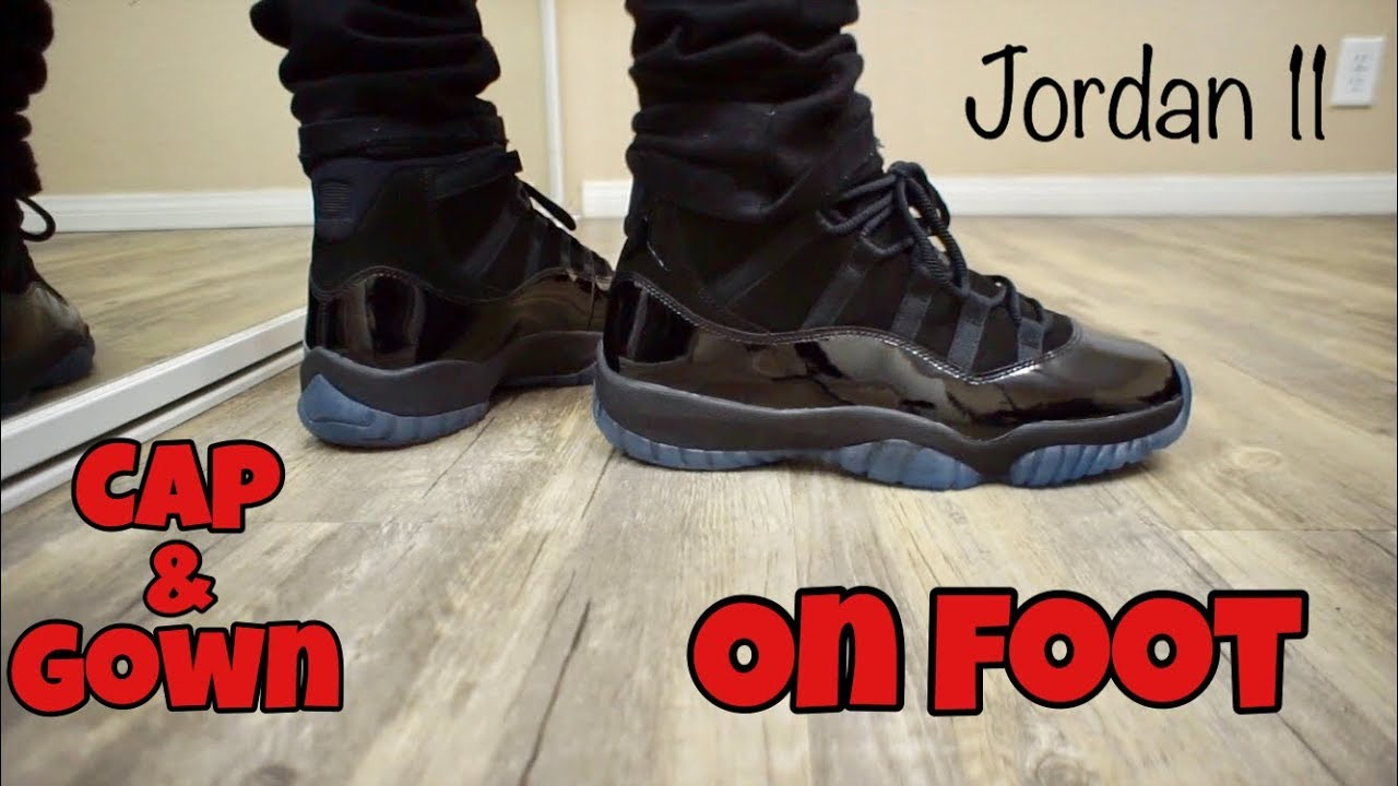 c2f7dfc65e7 Jordan 11 Cap and Gown On Foot! (Prom Night) - YouTube