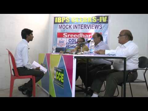 IBPS Mock Interview of A Pavankumar reddy