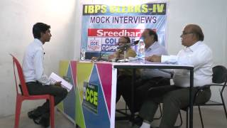 IBPS Mock Interview of A Pavankumar reddy