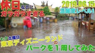 【雨で入園者数が激減!?】七夕土日の東京ディズニーランドのパークを1周してみた