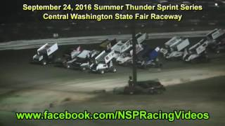 Central Washington State Fair Raceway Summer Thunder Sprint Series Highlights