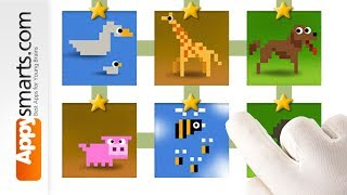 Animals Puzzles with Number Blocks from Dragonbox game for kids