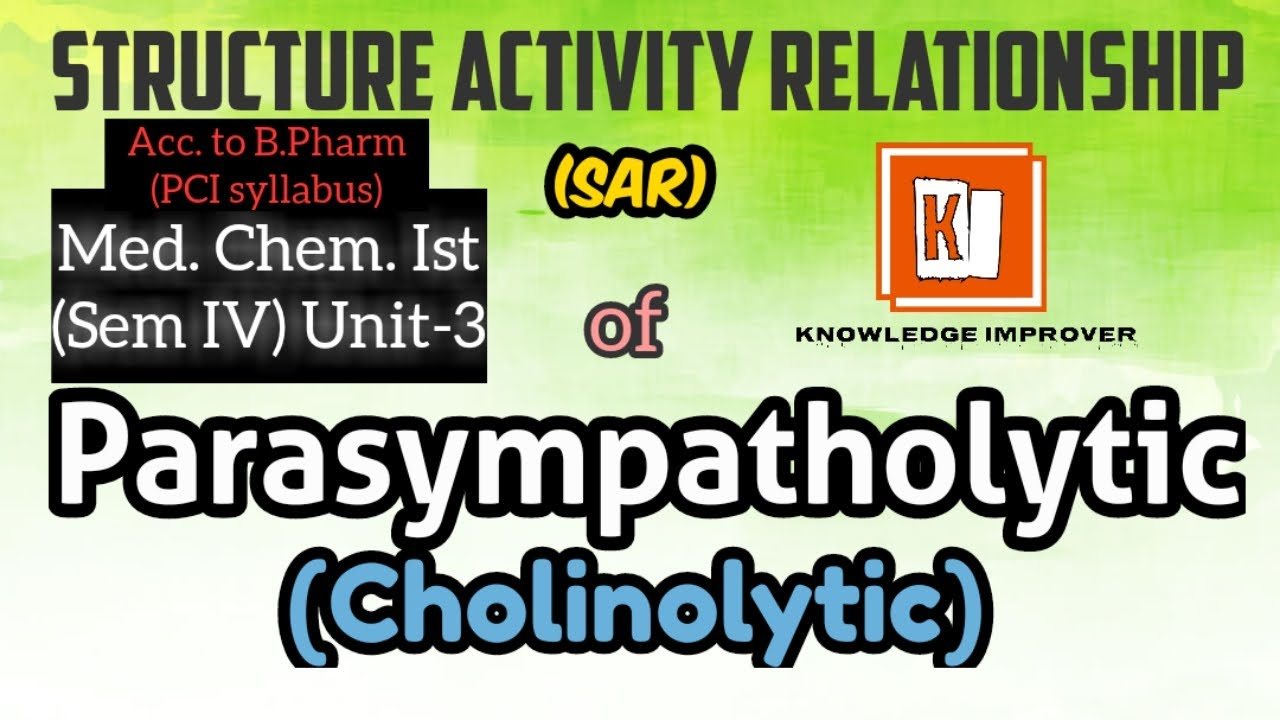 Sar of Cholinolytic | Sar of Parasympatholytic