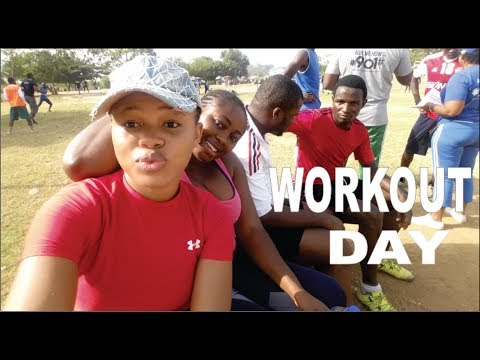Abuja Vlog | FUN WORKOUT WITH MY FAMILY