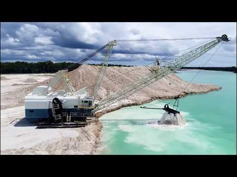 Walking Dragline Excavator Massive Machine in Action