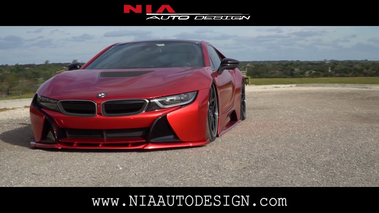 New Bmw I8 Full Body Kit Splitter Side Extentions Rear Diffusers
