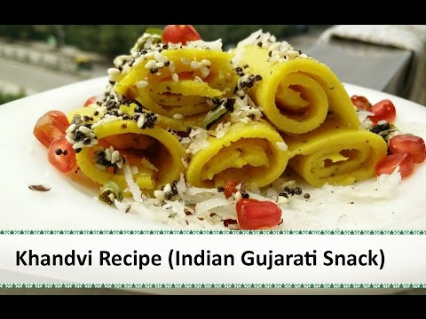 Khandvi Recipe  Indian Snacks Recipes  gujarati snacks recipe by Healthy Kadai