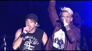 "All Time Low, introduced by Mayday Parade, perform a medley of ""Dea..."