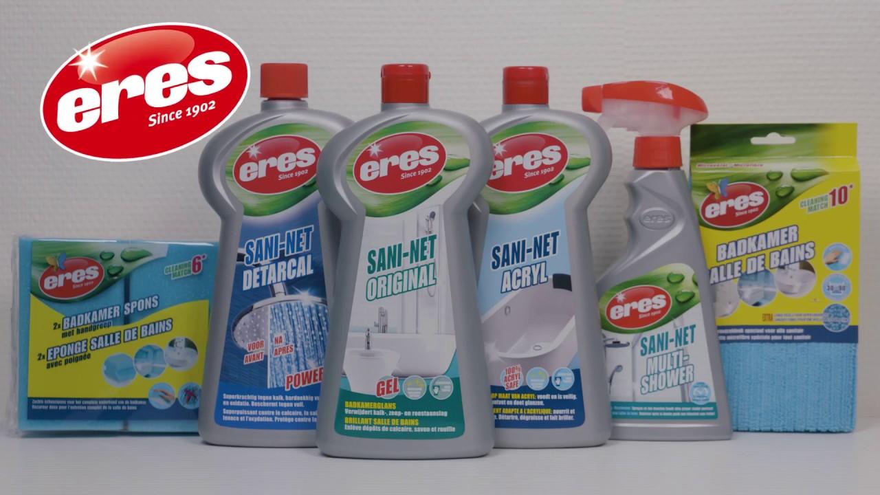 Kalk-en zeepresten in de badkamer verwijderen? Ontdek SANI-NET ...