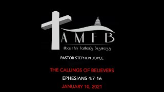 AMFBGRACE - THE CALLINGS OF BELIEVERS - 01.10.21