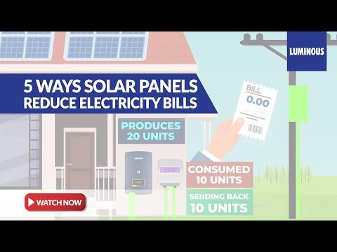 Solar Panel (5 Ways Solar Panel Saves Money)  Reduce Electricity Bills with Luminous Solar Rooftop