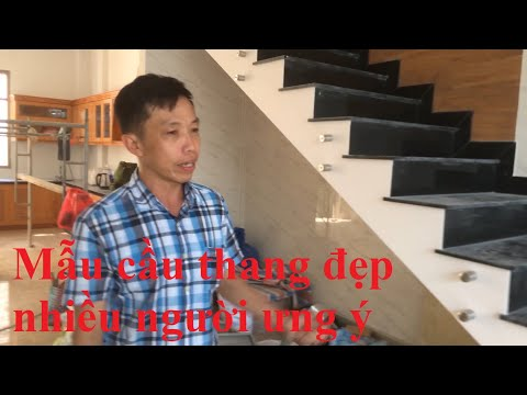 Cầu thang kính - Cách đo, ráp kính mẫu cầu thang mới