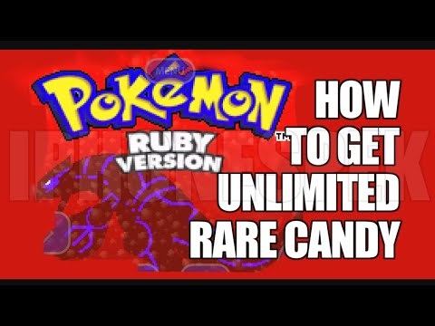 pokemon ruby cheats rare candy and master ball