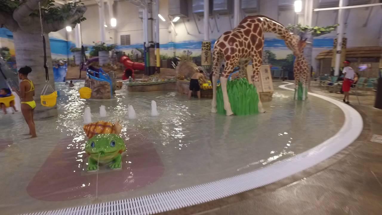 kalahari resort pocono mountains - indoor waterpark - youtube