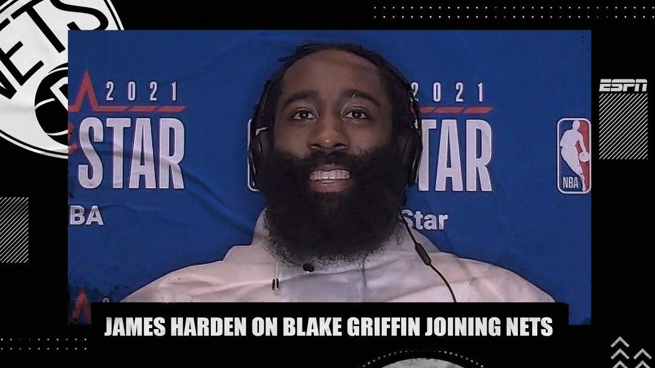 James Harden reacts to Blake Griffin joining the Nets | NBA on ESPN