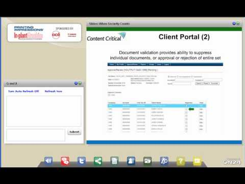 When Security Printing Counts Webinar -- Sponsored by Canon Solutions America