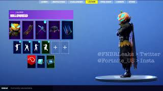 """Hollowhead"" Skin w/ ""Mouldering Cloak"" Backbling In -(Fortnite Battle Royale)"