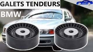 REMPLACEMENT des GALETS TENDEURS qui couinent sur BMW serie 5 E39 520i 523i 528i