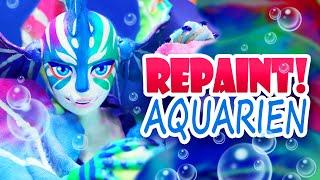 Repaint! Sea Dragon Aquarien OOAK Art Doll Custom