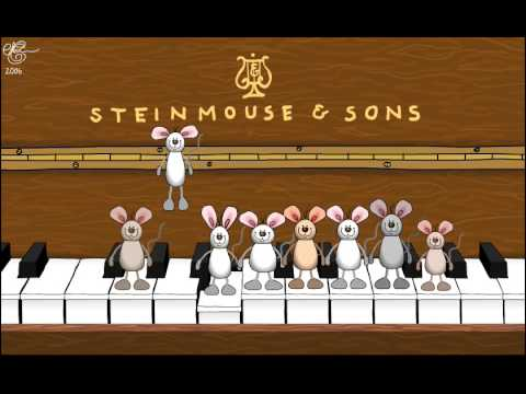 Happy Birthday Musical Mice Played On The Piano Youtube