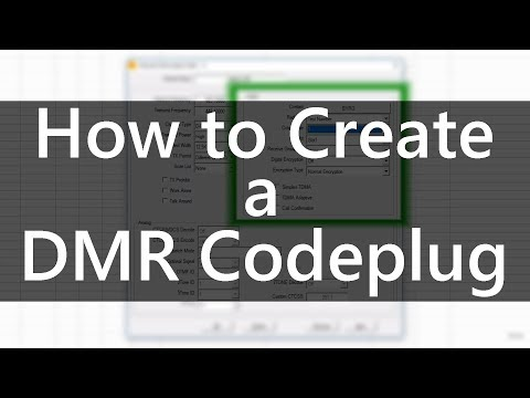 How to Create a DMR Codeplug by Chuck K0XM - YouTube