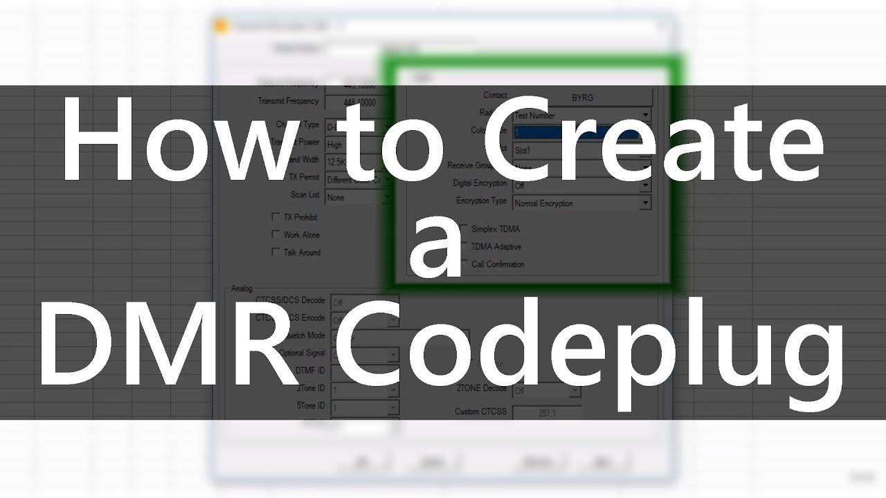 How to Create a DMR Codeplug by Chuck K0XM — BridgeCom