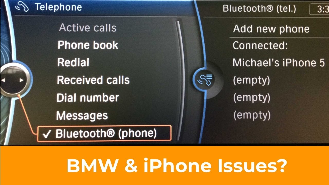 BMW and iPhone Bluetooth Audio Issues - Troubleshooting