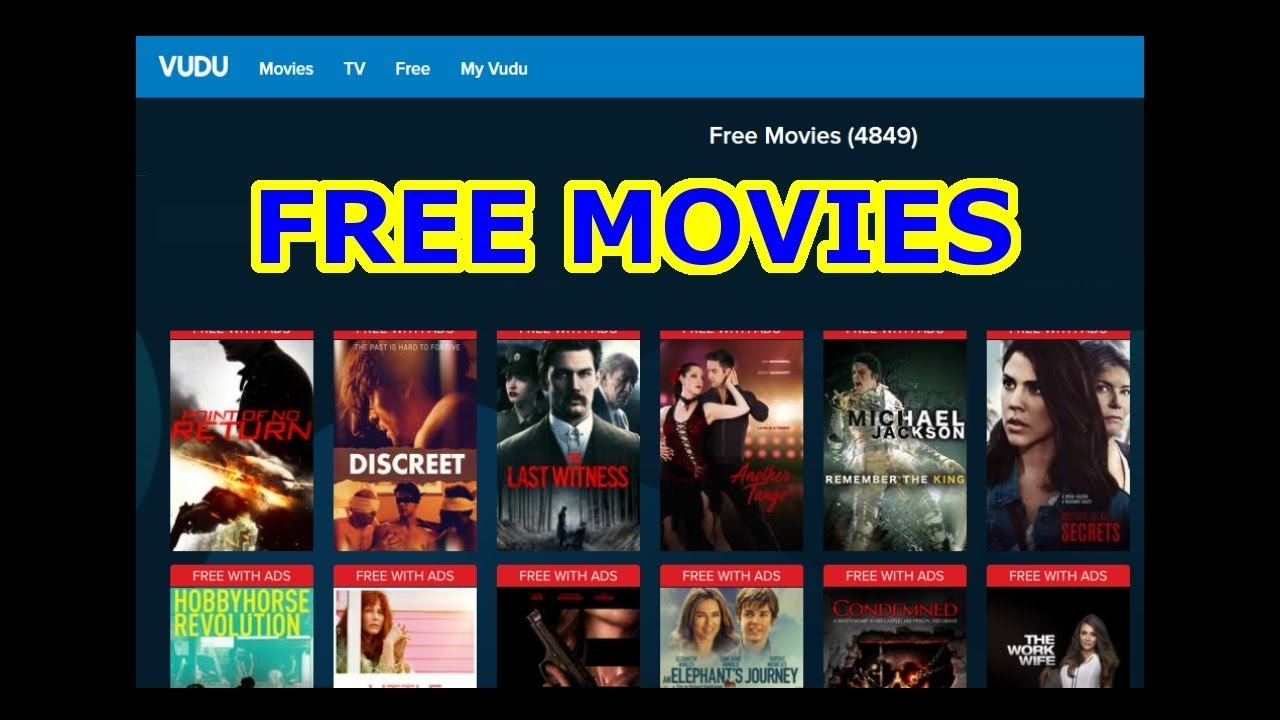 FREE MOVIES - NO CABLE = NO PROBLEM - Watch