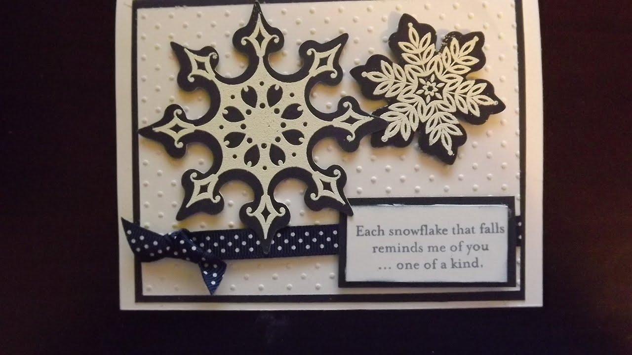 CTMH Snowflake Card With Art Philosophy Cricut Cartridge