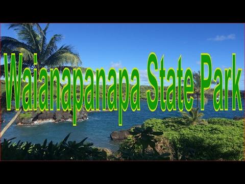 Visiting Waianapanapa State Park in Hana, Hawaii, United States
