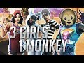 CAN 3 GIRLS CARRY 1 MONKEY   BEST GIRL SQUAD NA   Fortnite Battle Royale