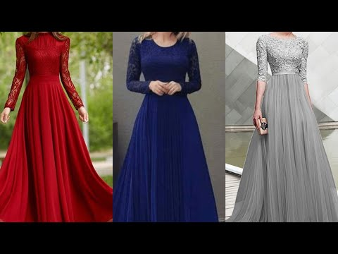 women's party going out street swing dress long sleeves lace patchwork silk long evening maxi dress