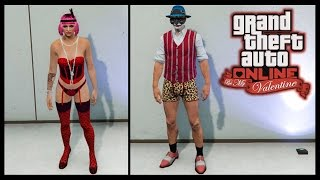 GTA 5 Online BE MY VALENTINE DLC! ALL MALE / FEMALE CLOTHING, MASKS & MORE!