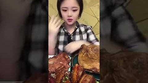SUB) MUKBANG EATING SHOW  양갈비 동파육 소무릎뼈   중국먹방中国 モッ