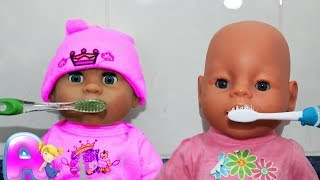 Аня как МАМА и Куклы пупсики Беби Бон