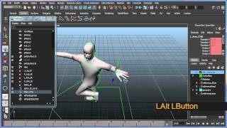 Basic bipedal character rigging setup in Maya - Part 6 of 8