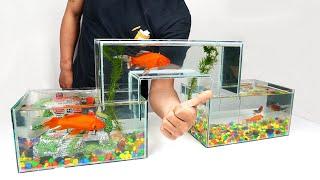 How to Make Unique Multi Level Glass Aquarium at Home