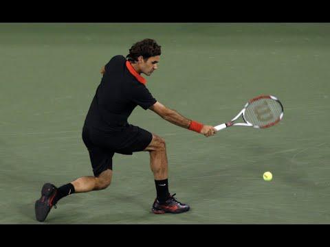 Roger Federer Flick Winner vs Soderling (2009 US Open Tennis QF)