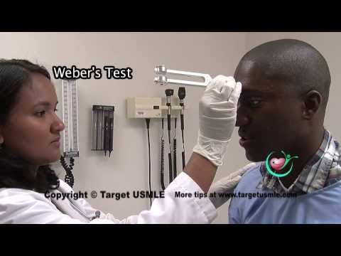 Target USMLE: Abnormal hearing - Rinne/Weber test