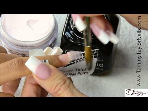 Slipper Coffin Shape Nail Design