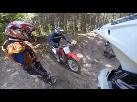 Dirt biking in Ganaraska Forest,  Ontario Canada