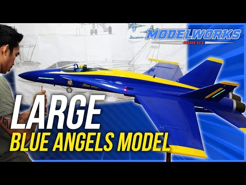 How to build a scale model airplane of the Blue Angels F18 from Resin. Fiberglass Aircraft Model.