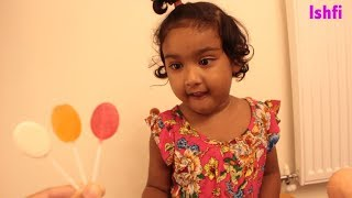 Learn Colors with Halloween Lollipop Real Toddler Ishfi's video with Shopkins