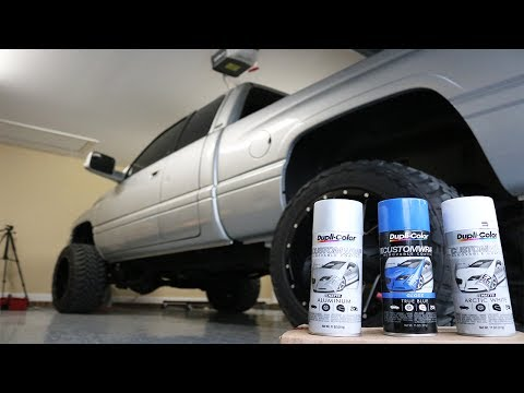 PRODUCT REVIEW Of The NEW DupliColor CustomWrap Rattle Cans On My Truck