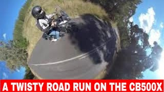 2019 HONDA CB500X Twisty Road Ride With Some Great Camera Special effects!