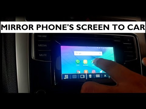 How To Mirror Your Phone Screen In Car's Touchscreen - Volkswagen Polo - RCD 330G